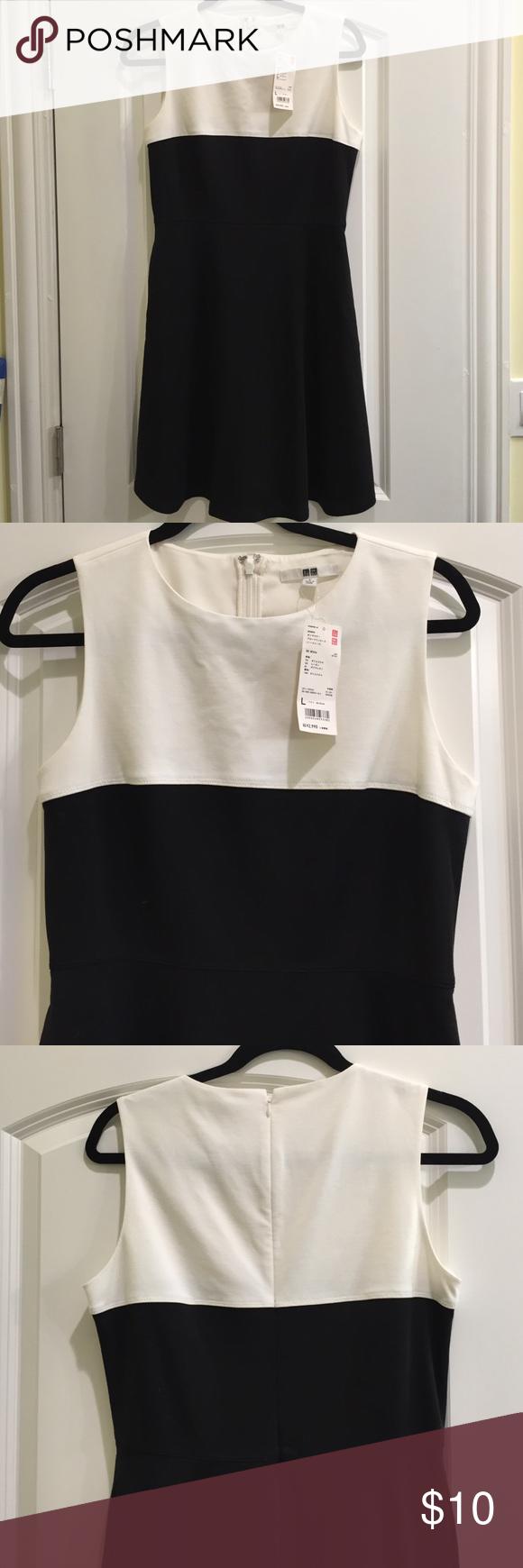 Uniqlo blackwhite dress l uniqlo uniqlo dresses and polyester