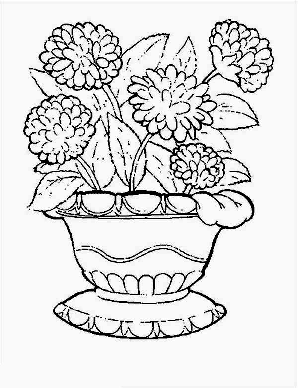 Carnation In Flower Pot Coloring Page Coloring Sun Flower Coloring Pages Coloring Pages Dragon Coloring Page