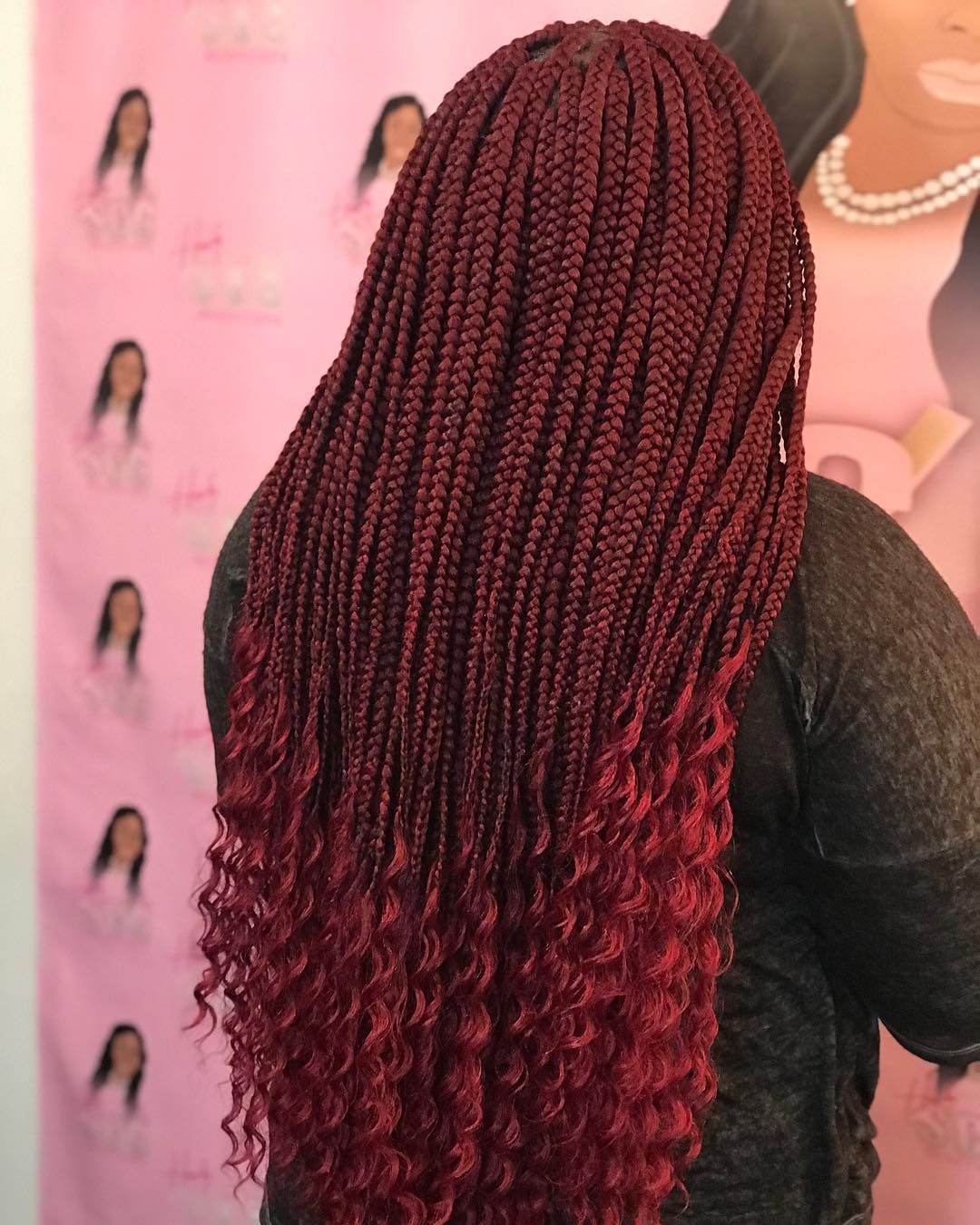 "BraidSlayer on Instagram: ""Goddess braids #boxbraids #goddessbraids #goddess #braids #scbraider #braider #burgundy #tucked"" #goddessbraids"