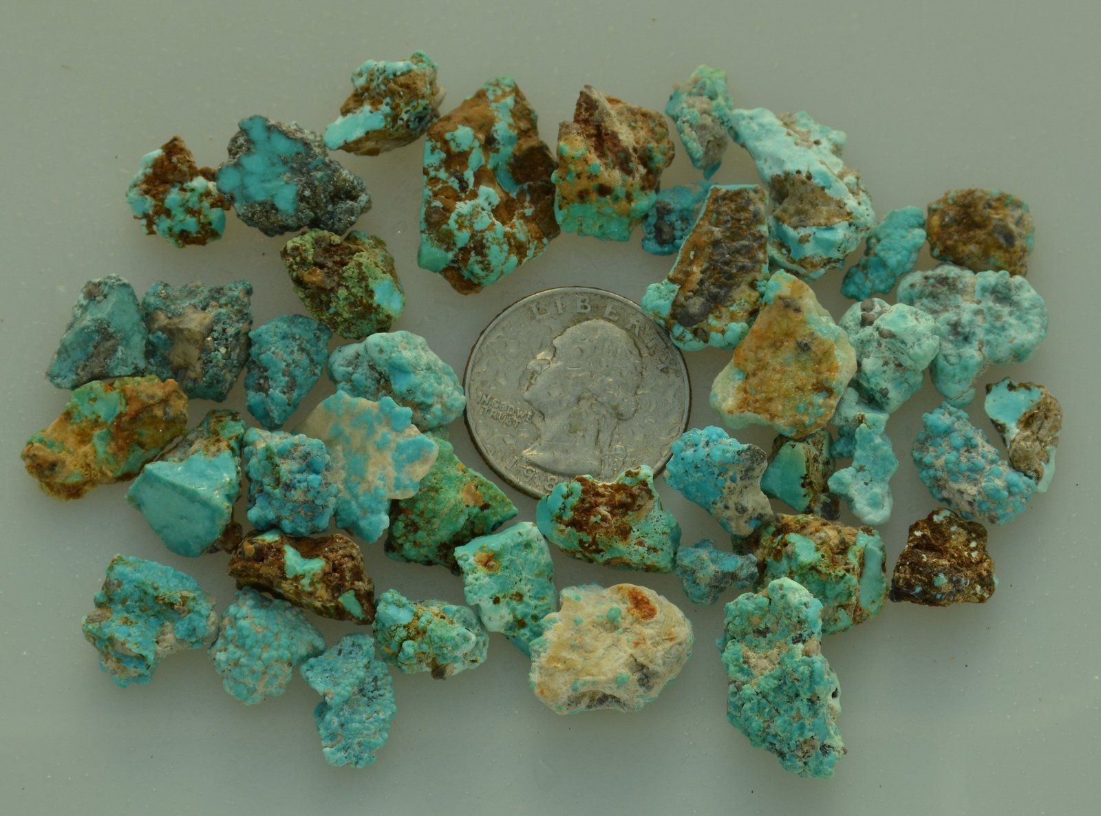 Villa grove colorado turquoise nuggets 50 grams lot vg4 for Jewelry supply colorado springs