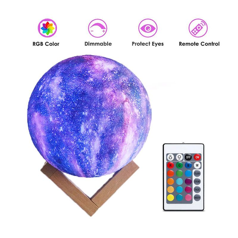 Rechargeable 3d Print Led Moon Lamp In 2020 Night Light Lamp Night Light Bedroom Lamps