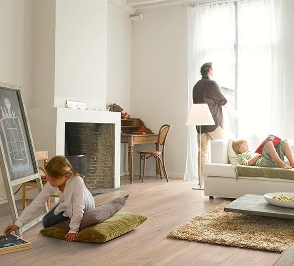 Woonkamer houten vloer. Quick-Step Laminaat Largo - vloeren ideeën ...