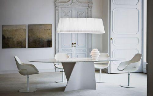 Table contemporaine en marbre ELICA 2575 by Prospero Rasulo Zanotta