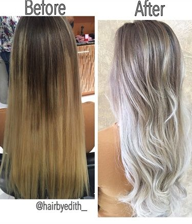 From Brass To Low Maintenance Ash Sombre Ash Hair Silver Blonde Balayage Hair