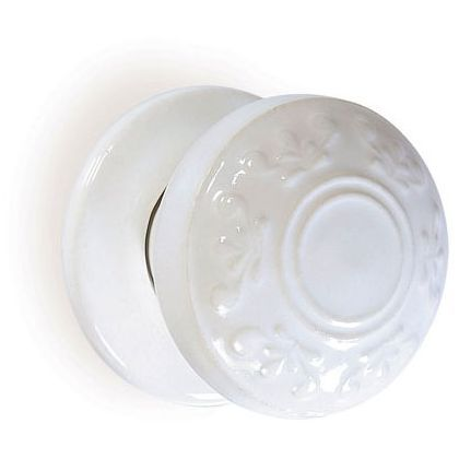 Boston Motif Porcelain Mortice Door Knob   White At Homebase    Be Inspired  And Make