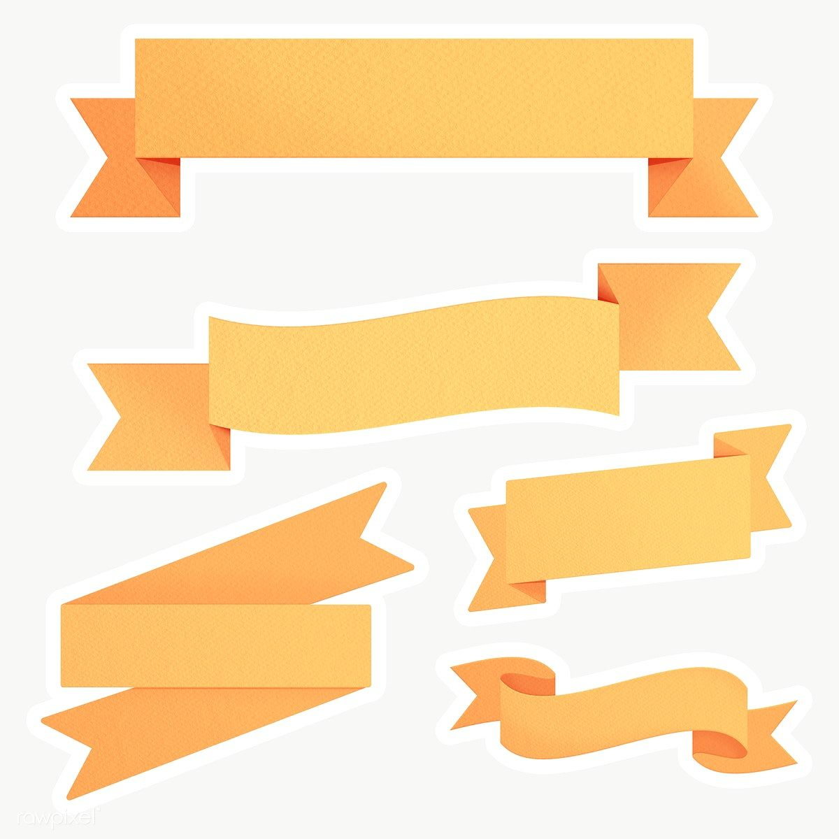 Marigold Yellow Ribbon Banner Sticker With White Border Design Element Free Image By Rawpixel Com Sasi Ribbon Banner Yellow Ribbon Free Illustrations