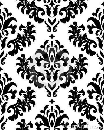 damask+pattern | Seamless Damask Pattern Royalty Free Stock Images ...