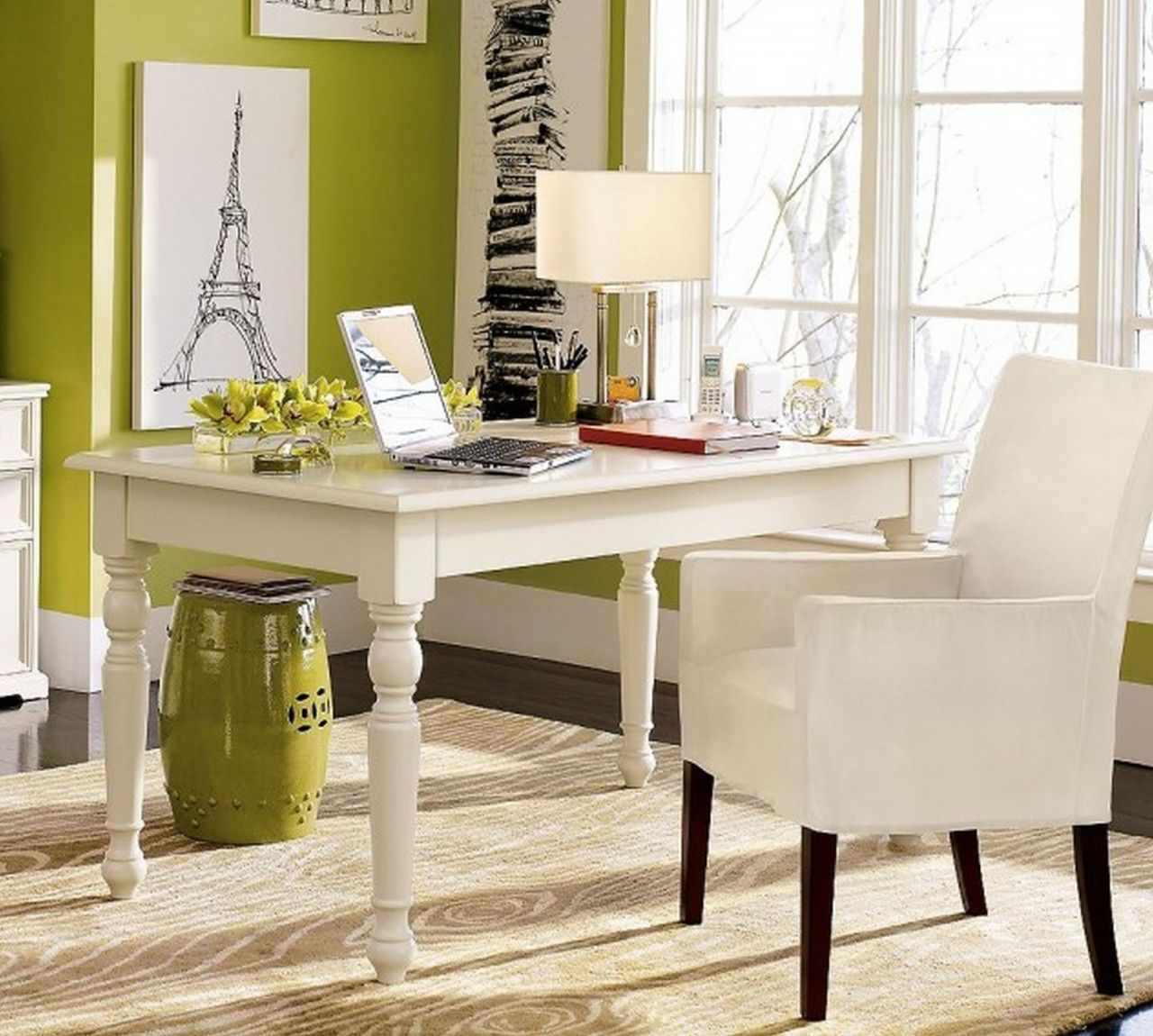 Home Office Colors Ideas Elegant And Creative Ideas For Decorating A ...