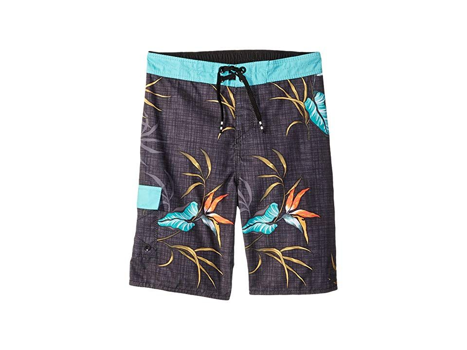 28b5d18e00ef9 Billabong Kids Sundays OG Boardshorts (Toddler/Little Kids) (Black Multi)  Boy's Swimwear. Help your grom tackle the surf in comfort and style with  these ...