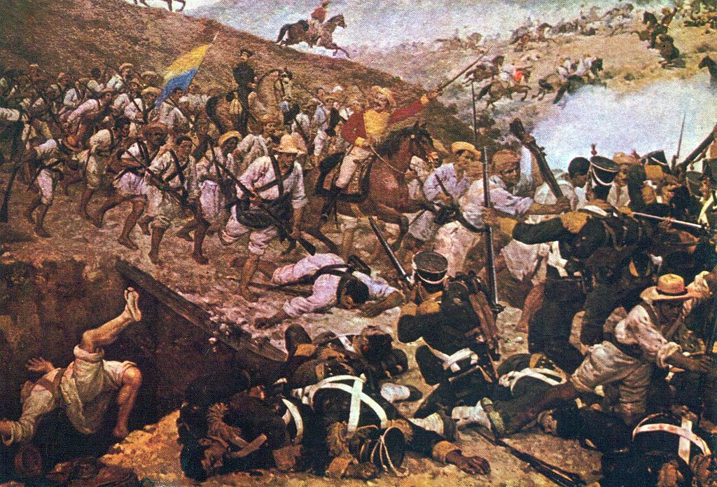 Colombia Batalla De Boyaca De Martin Tovar Y Tovar Simon Bolivar American War Of Independence Mexican War Of Independence
