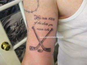 Hockey Sticks Stick Tattoo Hockey Tattoo Tattoos