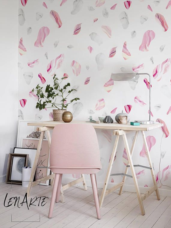 Colorful Marble Rocks Wallpaper Pink And White Wallpaper Easy