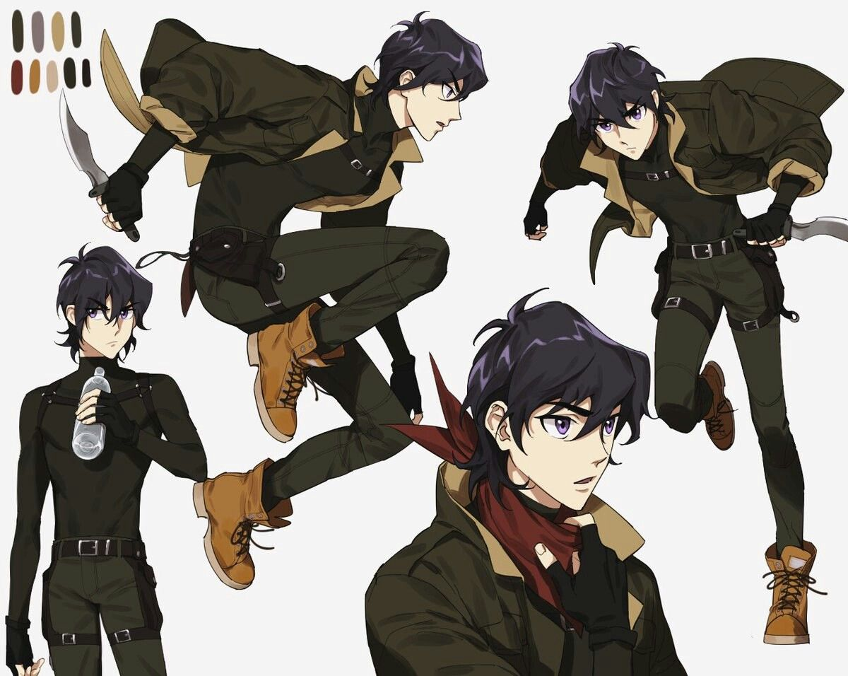 Keith In Very Cool Fashion Style With His Knife Blade From