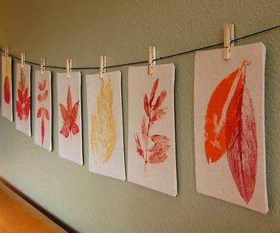 Anne Kaz | Yapraklardan el işi çalışmaları