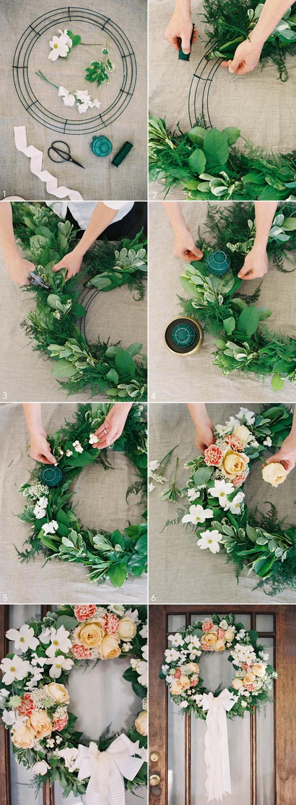 Diy Wedding Wreath Once Wed Diy Wedding Wreath Spring Wedding Decorations Diy Wedding Decorations