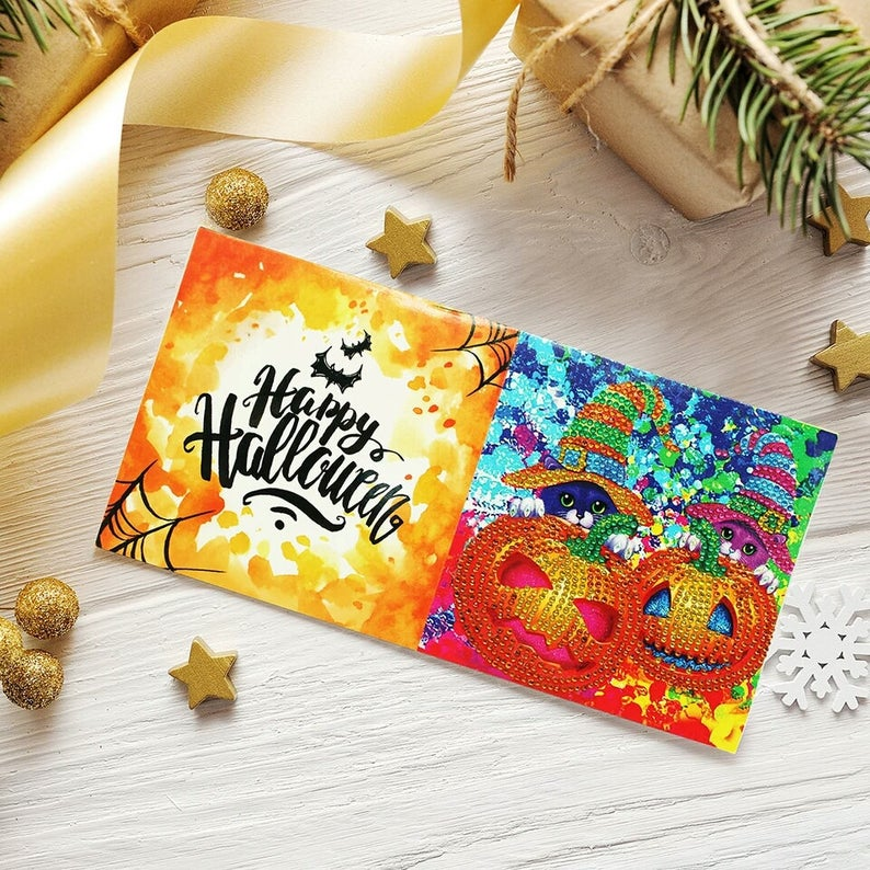 Diamond Painting Mosaic Greeting Card Special Shaped