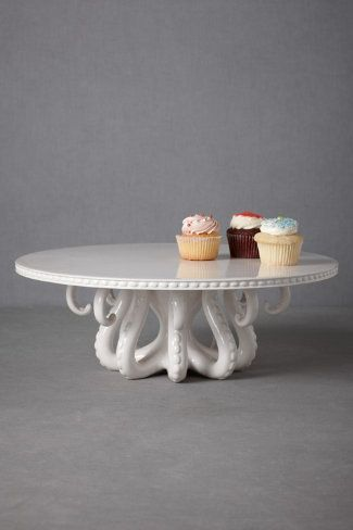 Tentacled Server Cake Stand....expensive but just so awesome!