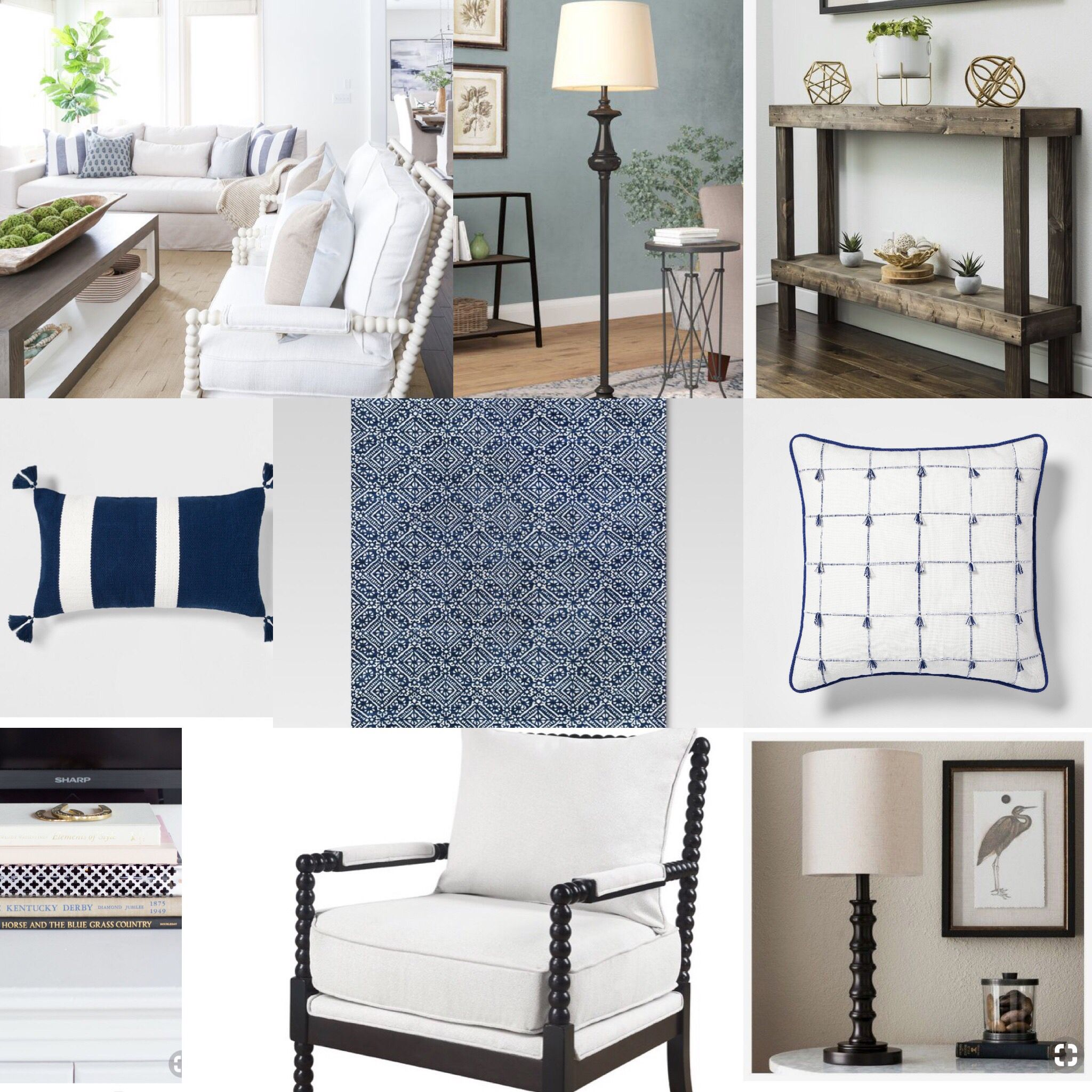 Enjoyable Blue And White Refined Country Living Room Inspiration With Creativecarmelina Interior Chair Design Creativecarmelinacom