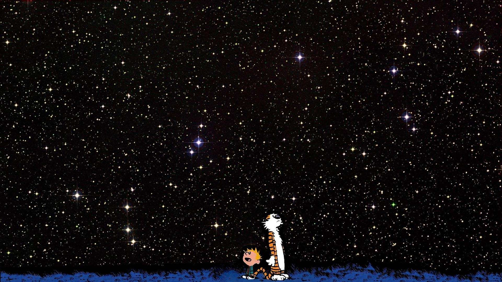 calvin and hobbes starfield hd wallpaper » fullhdwpp - full hd