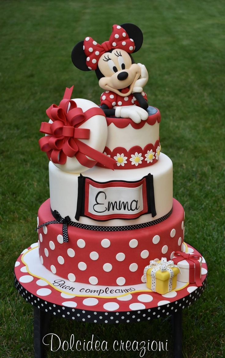 Minnie Mouse Cake Torta Minni Topolina Party In 2019