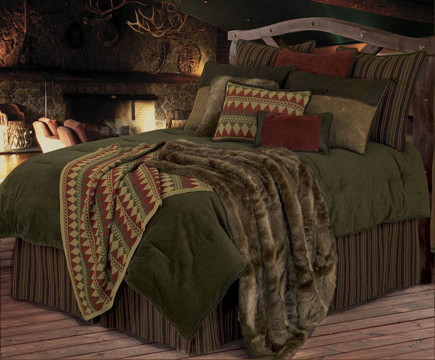 rustic green beach themed bedroom | rustic bedding sets | Wilderness Ridge' Comforter Set ...