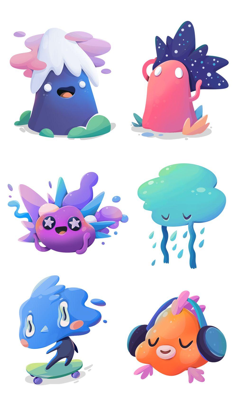 Doodles Lab For Stickerplace On Behance Pinterest Sticker Karakter