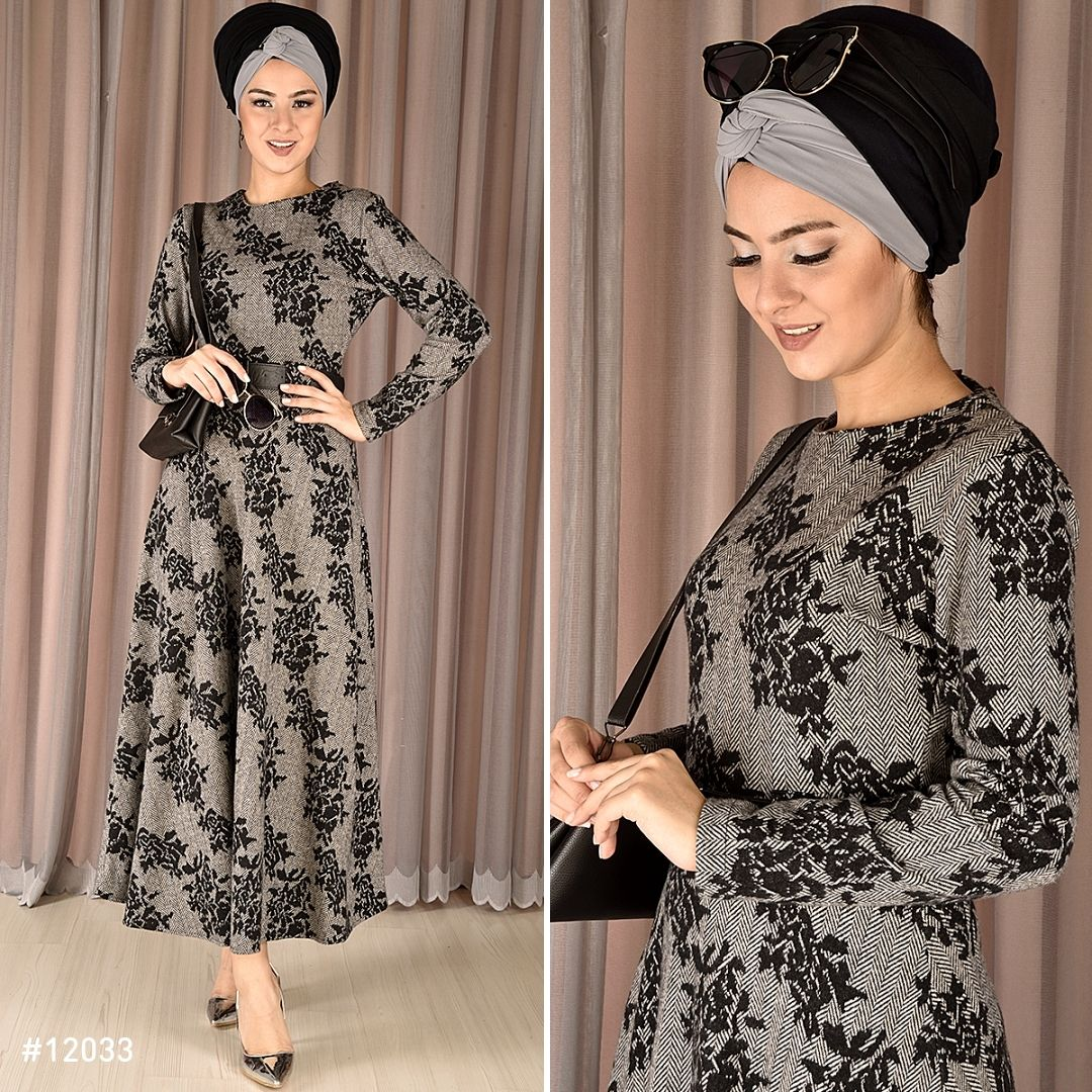Cicek Desen Elbise Gri Png 139 90 Tl Dresses With Sleeves Fashion Long Sleeve Dress