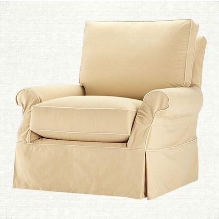 Awe Inspiring Arhaus Carina Slipcovered Swivel Glider 1 199 00 Liven Up Onthecornerstone Fun Painted Chair Ideas Images Onthecornerstoneorg