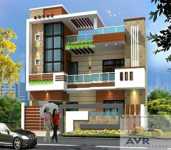 Modern Residential Exterior By Ar Sagar Morkhade: Pin By Harish Kumar Pulluri On House Designs In 2019