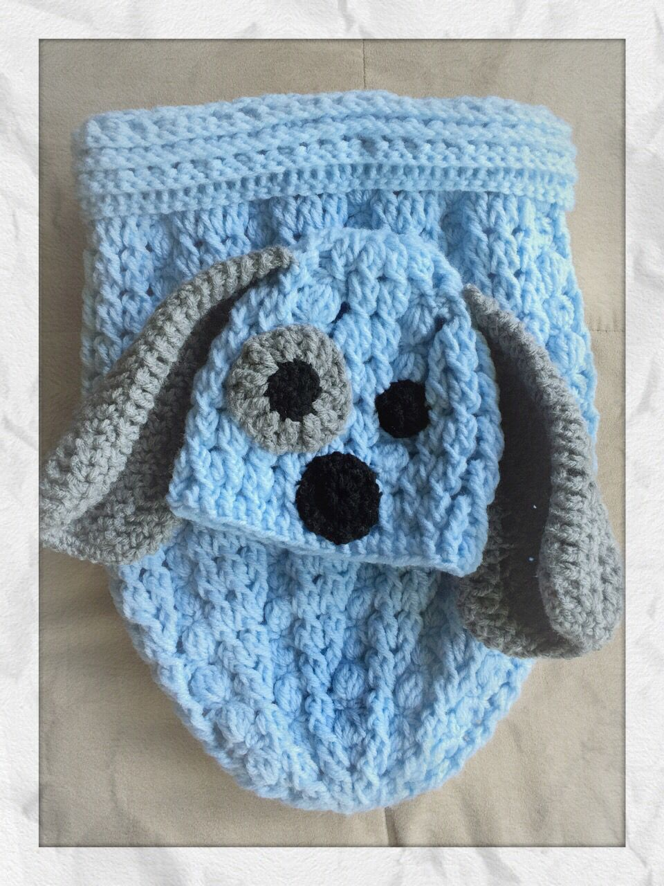 Mini cables stitches baby cocoon with puppy hat diy crochet mini cables stitches baby cocoon with puppy hat bankloansurffo Gallery