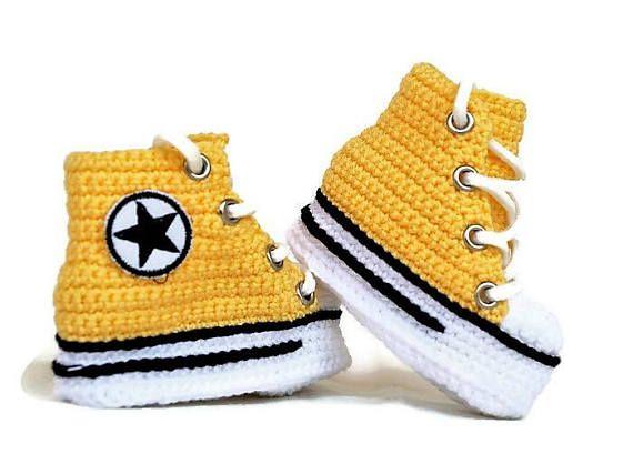 3d82983d03412 Crochet Newborn Girl Converse Booties Newborn Knitted Baby   newborn ...