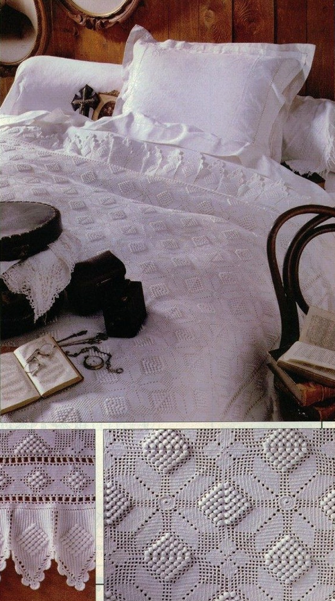 Crochet Bedspread Bedtime Story See Free Pattern Proyectos Que