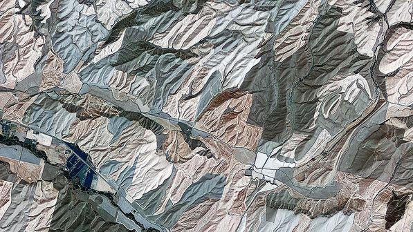 Vista aérea do condado de Walla Walla, noroeste dos Estados Unidos