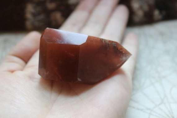 Hematoid Crystal Red Beauty by ElayaMagic on Etsy