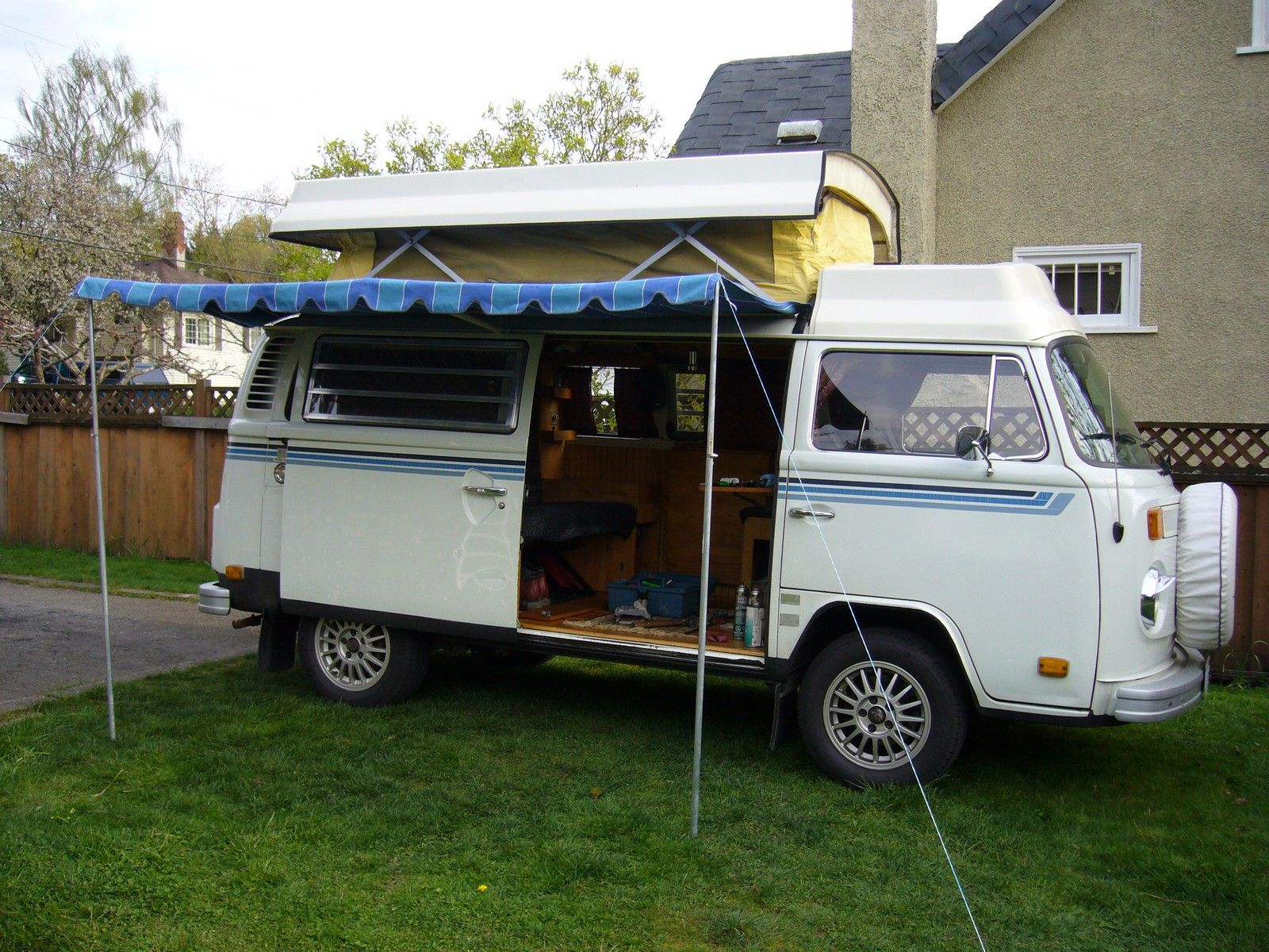 Example Of An Original Riviera Awning Vw Bus Camper Vw Bus Bus Camper