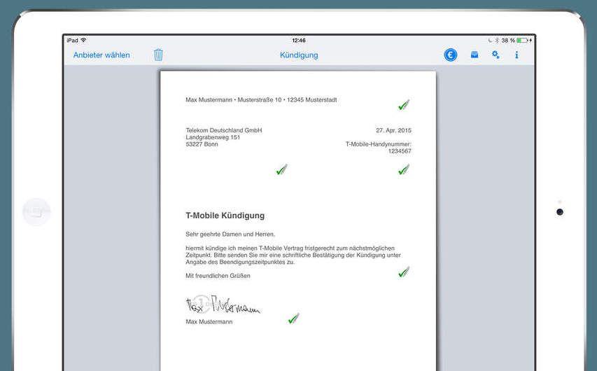 Aboalarm Kostenlose Kundigung Dank Poststreik Gutschein Poster App Versenden