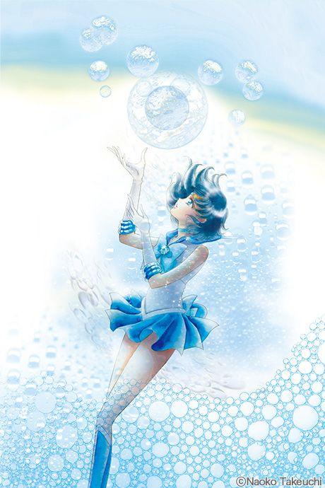 New Sailor Moon manga covers - Book 2 featuring Sailor Mercury - By Naoko Takeuchi