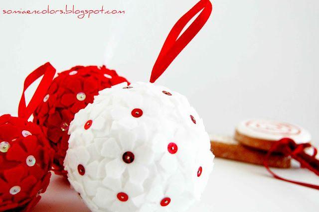Ultimando detalles: bolas para el árbol