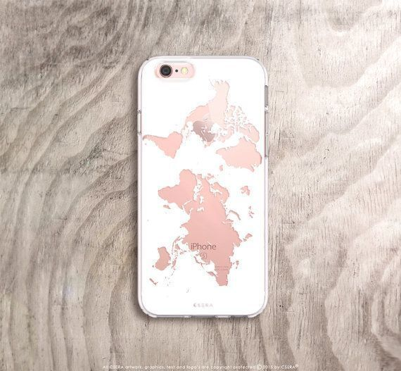 World map iphone case in white on rose gold iphone 6s case etsy world map iphone case in white on rose gold iphone 6s case etsy listing at https gumiabroncs Images