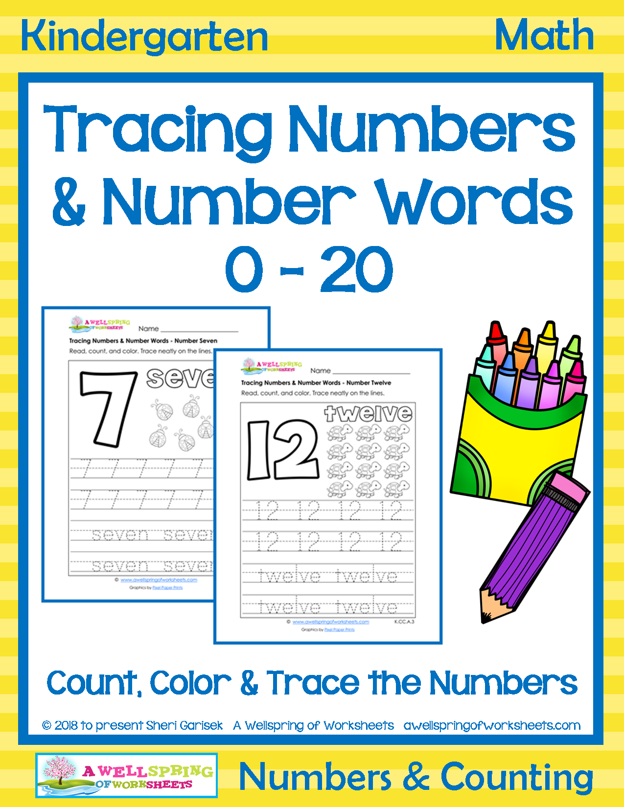 Lots Of Great Number Tracing On These Worksheets Kids Color In The Bubble Font Number Count The Objects And Trace Number Words Kindergarten Math Word Skills [ 1650 x 1275 Pixel ]