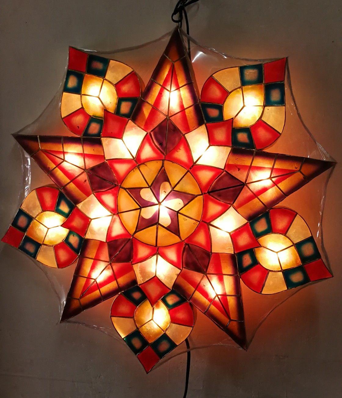 Stariray Parol Special Star And Spade Design Capiz Philippine