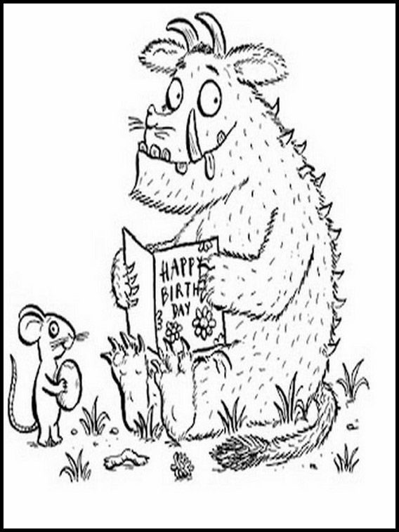 The Gruffalo 4 Printable coloring pages for kids