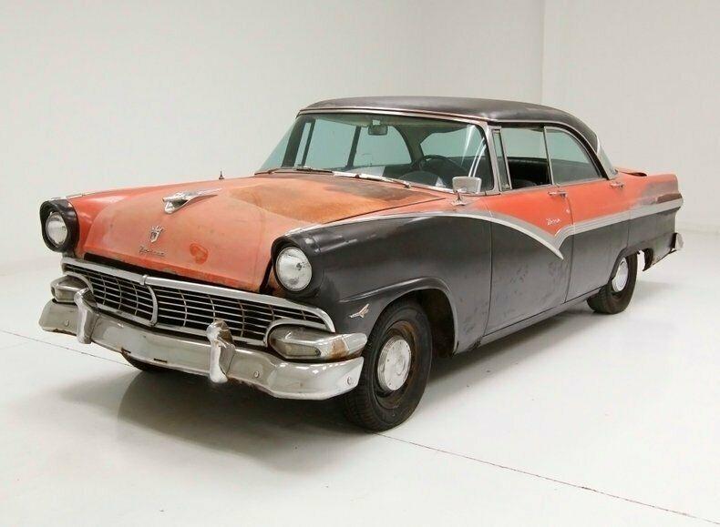 1956 Ford Victoria Hardtop Barn Find Original Unrestored Car 292ci