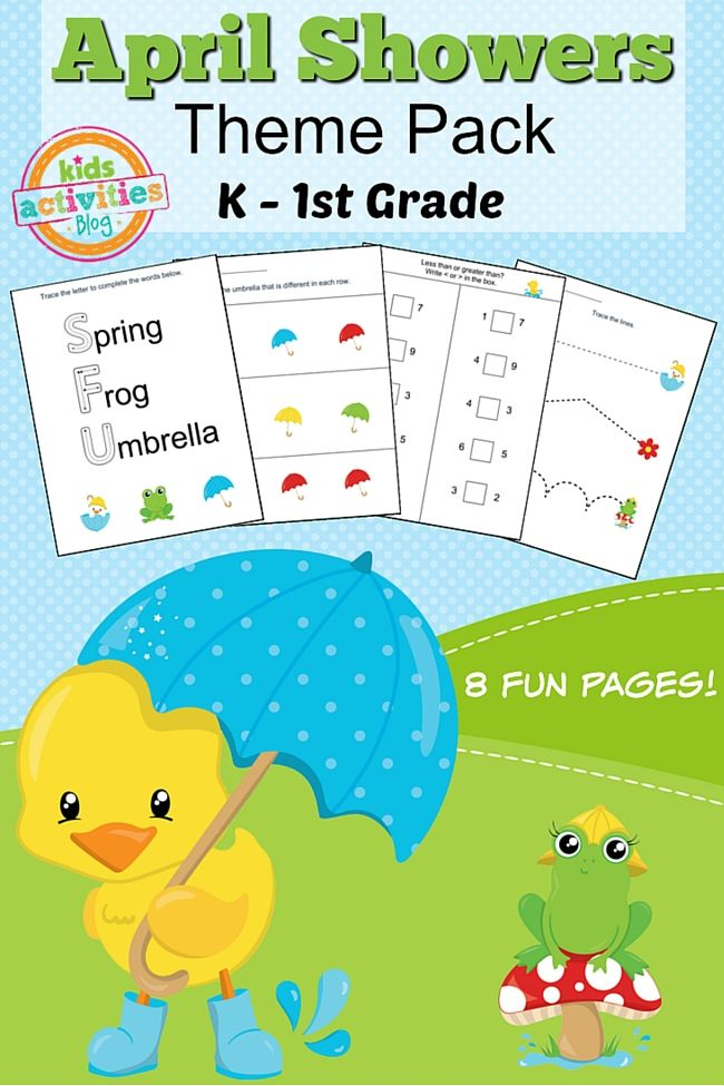 Spring Printable Kindergarten Worksheet Pack | Kindergarten ...