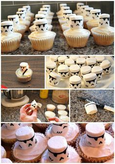 The Easiest Way to Make Clone and Stormtrooper Cupcakes The Easiest Way Ever To Make Storm Trooper or Clone Trooper Cupcakes for your Star Wars Party