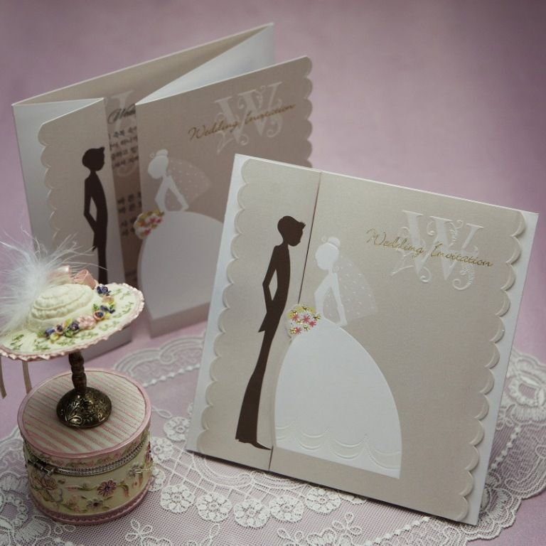 invitation wordings for wedding by bride and groom%0A Wedding card couple vintage  Wishmade Cards