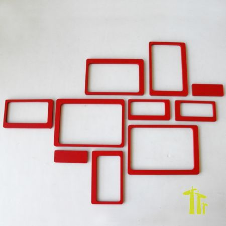 Modern Wall Decor Rectangles Fridge Monkey Hexagons Le