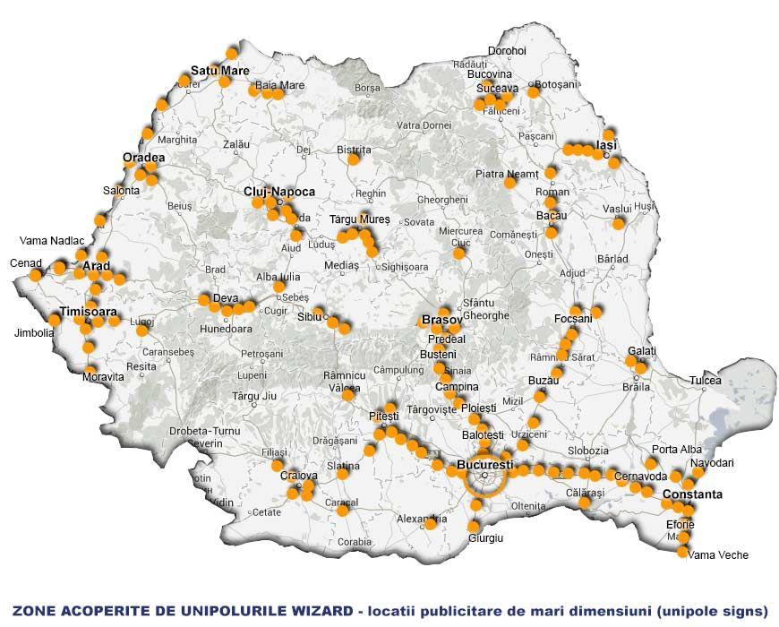Harta Romaniei Drumuri Nationale Jpg 870 700 With Images