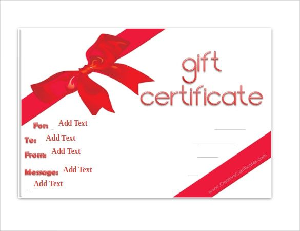 Gift Certificate Template U2013 34+ Free Word, Outlook, PDF, InDesign   Gift  Free Holiday Gift Certificate Templates