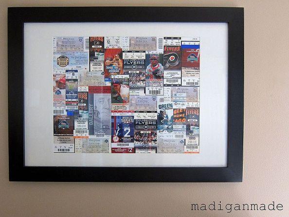 framed sports ticket art, crafts, home decor, Framed sports ticket art Details here